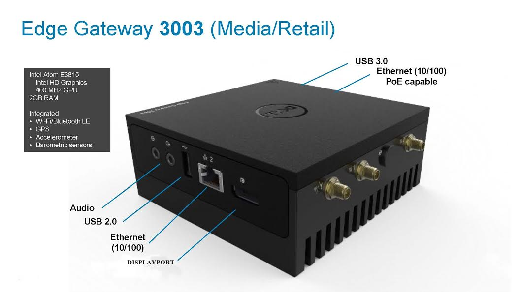Dell Edge Gateway 3003 Model Media & Retail Kiosks-ssanetwork